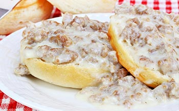 Sausage Biscuits with gravy